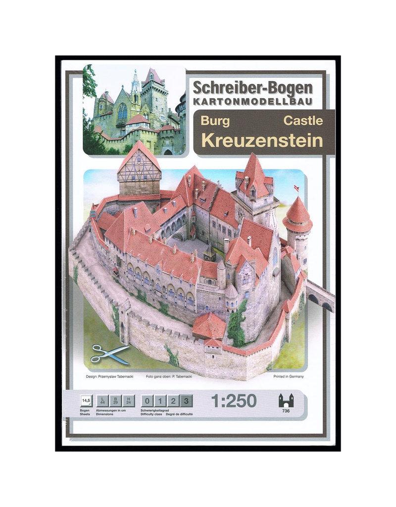 Schreiber-Bogen Burcht Kreuzenstein (bouwplaat 1:250)