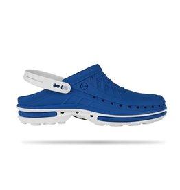 Wock Slipper Clog azuurblauw/wit UITVERKOOP