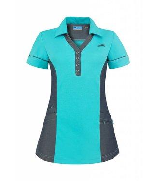 De Berkel Zorgpolo dames Trix turquoise-denim