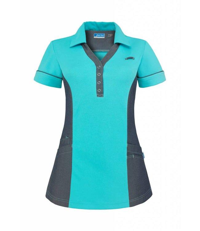 Dames Polo Trix turquoise-denim