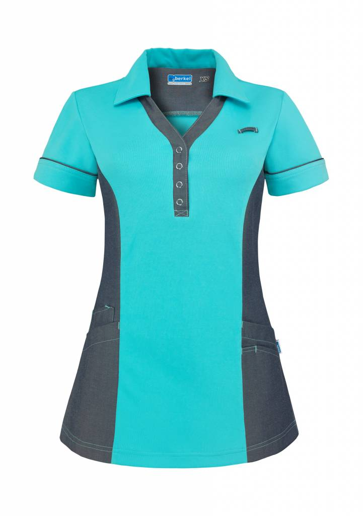 De Berkel Dames Polo Trix turkoois-denim