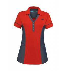 De Berkel Dames Polo Trix rood-denim