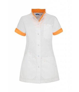 De Berkel Zorgjasje Livia wit-oranje