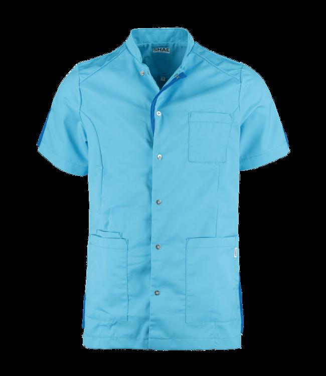 Heren tuniek Luke Driehoek turquoise
