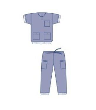 Evercare Clean-air suit shirt blauw Evercare Optimia