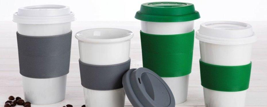 Coffee to go Becher - der Umwelt zu liebe, aus Porzellan
