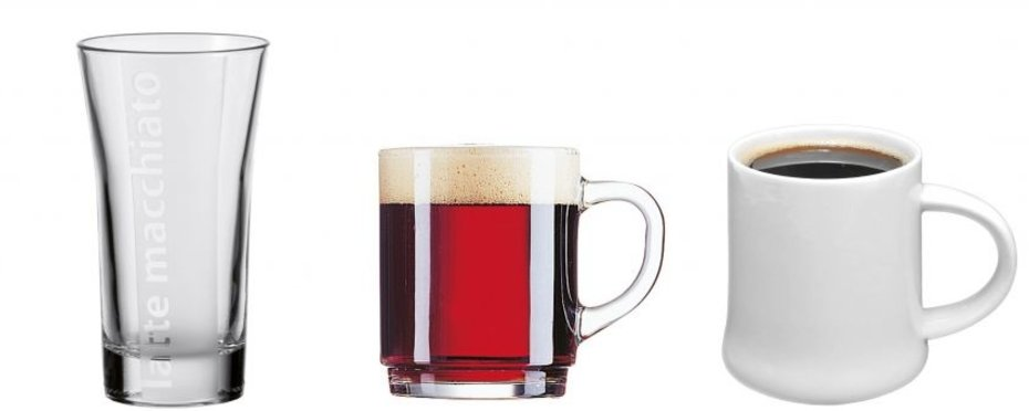 Gläser und Tassen