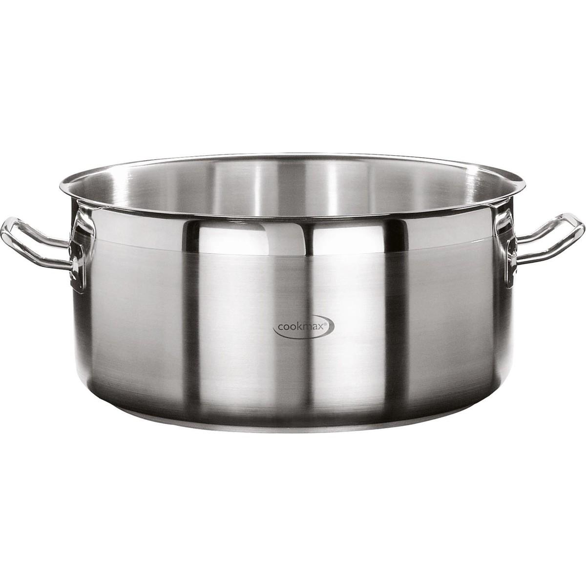 "Bratentopf flach ""Cookmax Professional"" Ø 28 cm, H: 12 cm. Inhalt 7,4L"