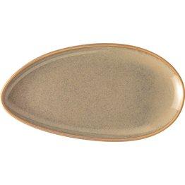 "Porzellanserie ""Vida"" Platte flach oval 25,5cm"