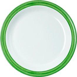 """Teller flach """"Colour"""" Ø19,5cm Melamin  grün"""