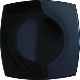 "Hartglasgeschirr ""Quadrato"" schwarz Teller 19 x 19 cm"