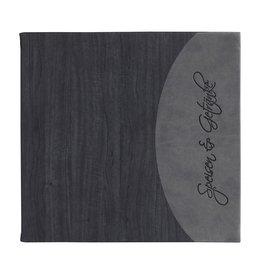 """Speisenkarte """"Felia"""" quadratisch schwarz + grau"""