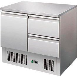 Kühltisch mit 1 Tür, 2 Schubladen