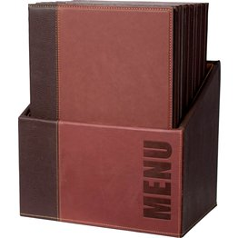"Speisenkarten-Box ""Elite""   Set bordeaux"