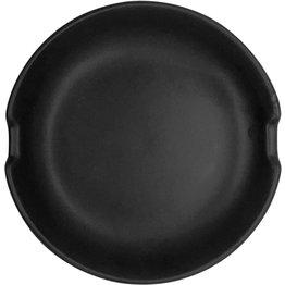 Keramik-Ablage schwarz  Stäbchenablage Ø 10cm schwarz - NEU