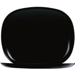 """Hartglasgeschirr """"Evolution"""" schwarz Platte flach rechteckig 28x23 cm  - NEU"""