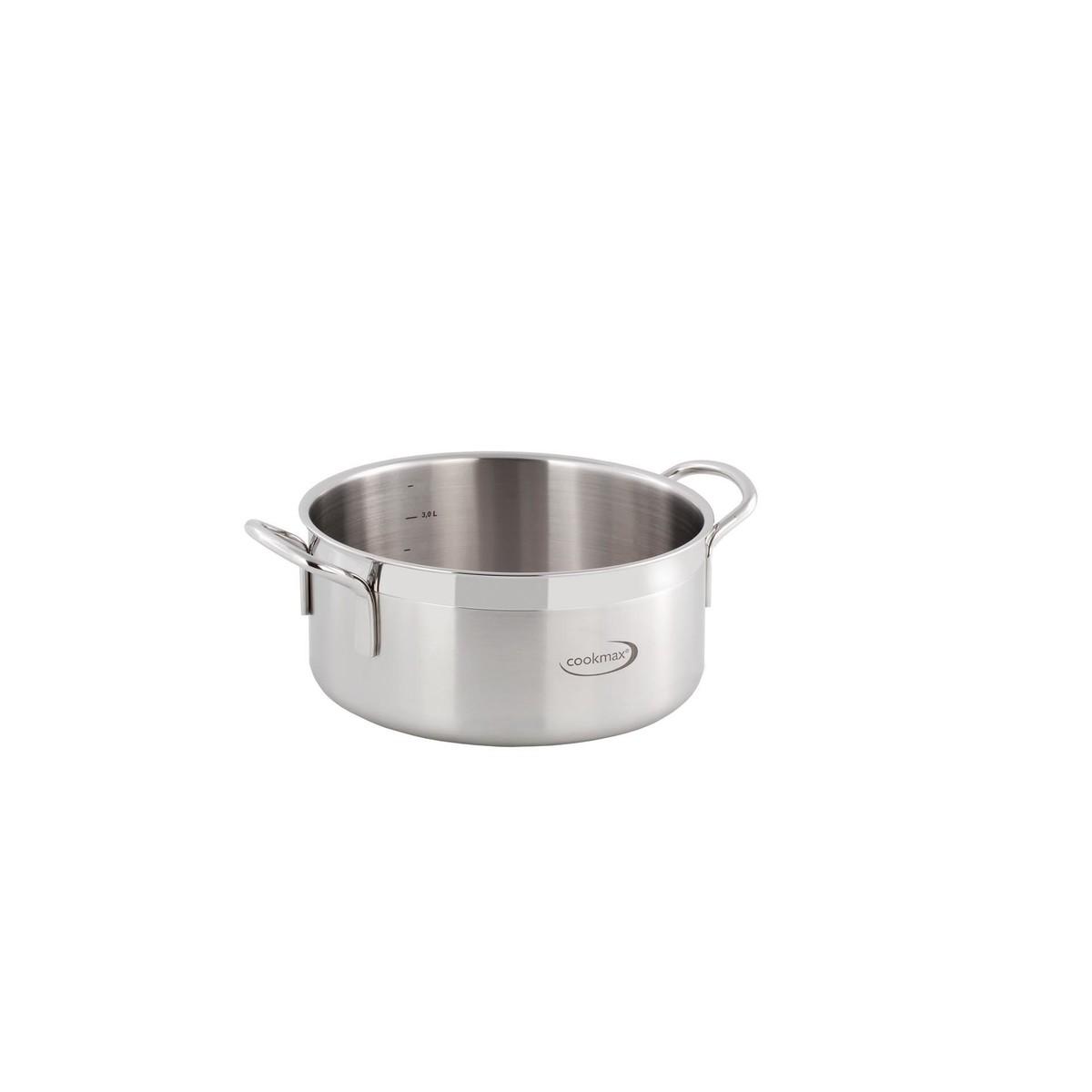 "Bratentopf flach ""Cookmax Gourmet"" Ø 20 cm, H: 9 cm. Inhalt 2,8L"