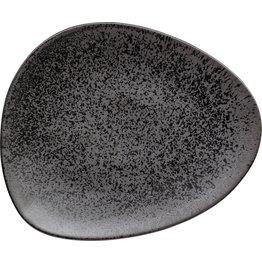 "Porzellanserie ""Ebony"" Teller flach 30,6x26cm"