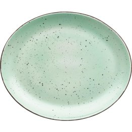 """Porzellanserie """"Granja"""" mint Platte flach oval, 30,5 x 25,5 cm"""