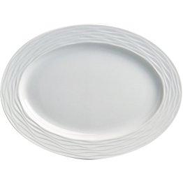 "Hotelporzellan ""Curved"" Platte oval, 28 cm"