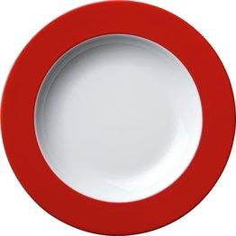 Teller tief Ø 22,5 cm rot