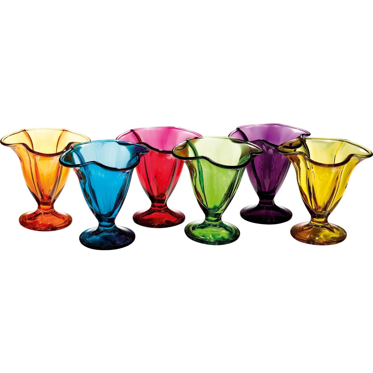 """Eisglas """"Tulip bunt"""" 6er Set"""