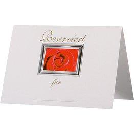 """Reserviert-Aufsteller A7 """"Rose"""""""