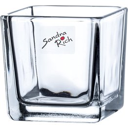 """Glas """"Cube"""" 8x8x8cm klar - NEU"""