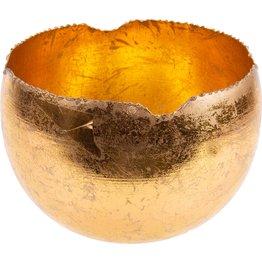 Teelichthalter gold, rund Ø 18cm - NEU