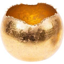Teelichthalter gold, rund Ø 6cm - NEU