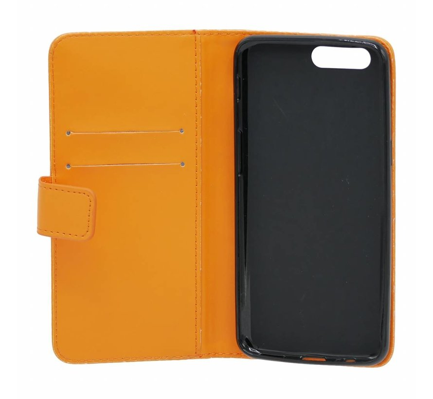 Booktype Klapp Hülle Orange OnePlus 5