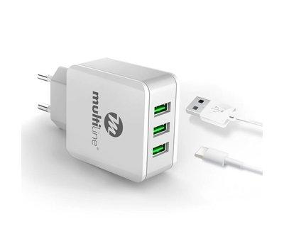 Multiline 3-Poorts USB Ladegerät 3.1A
