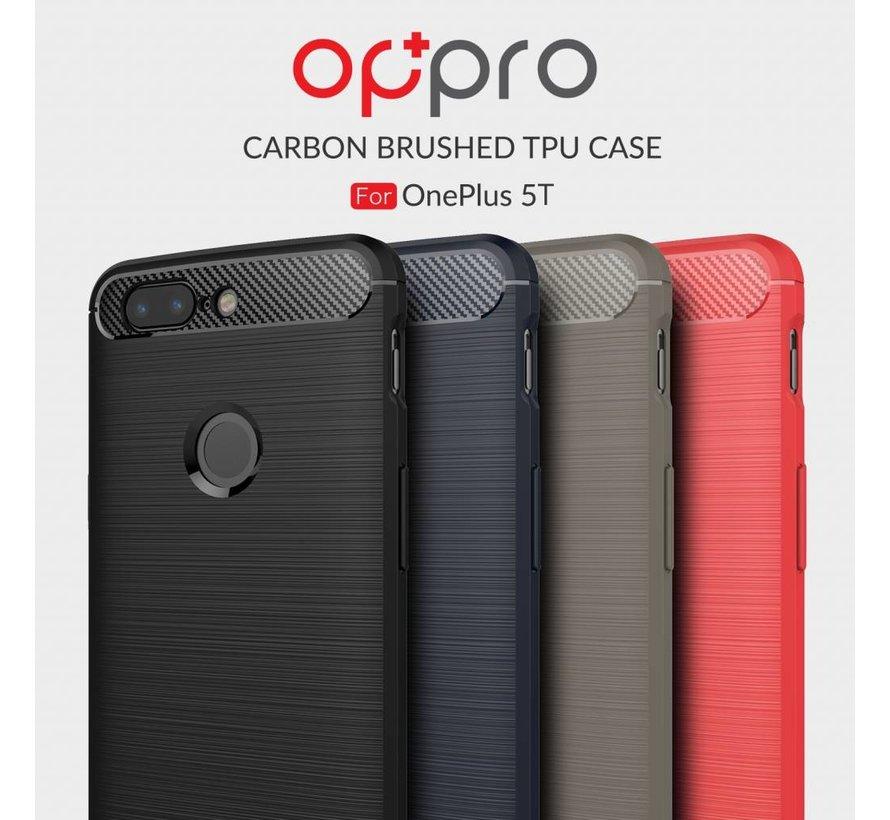 Carbon Fiber Design Hülle Schwarz OnePlus 5T