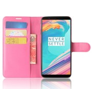 OPPRO Booktype Klapp Hülle Pink OnePlus 5T