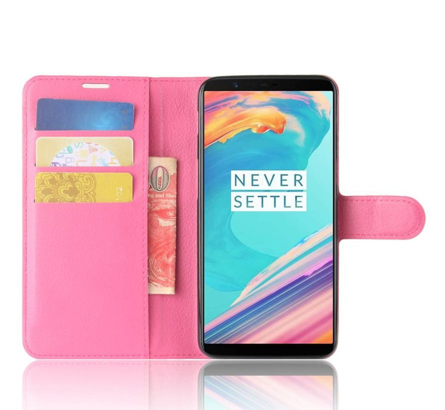 Booktype Klapp Hülle Pink OnePlus 5T