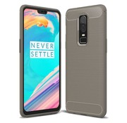 OPPRO Brushed Carbon Hülle Grau OnePlus 6