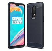 OPPRO Brushed Carbon Hülle Blau OnePlus 6