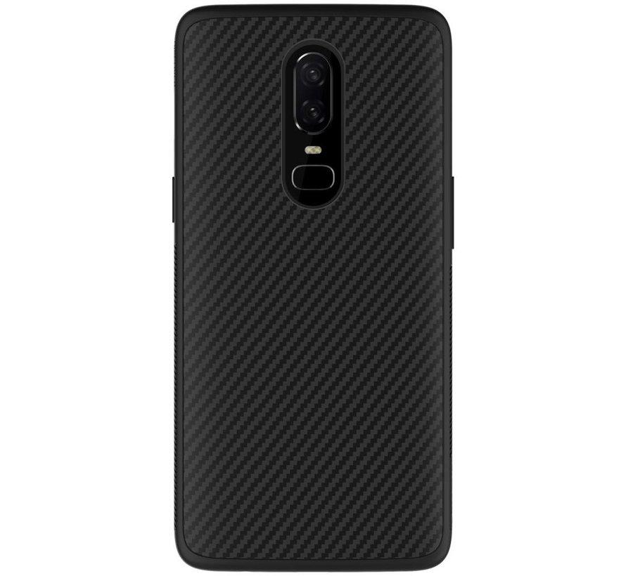 Carbon Fiber Hülle Schwarz OnePlus 6