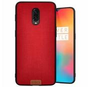 Noziroh OnePlus 6T Hülle Fabric Rot