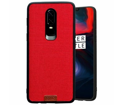 Noziroh OnePlus 6 Hülle Fabric Rot