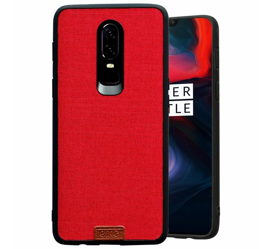 OnePlus 6 Hülle Fabric Rot