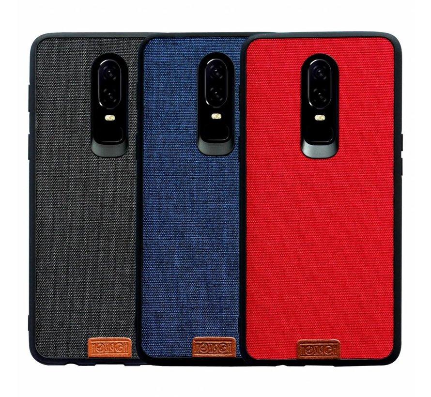 OnePlus 6 Hülle Fabric Blau