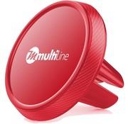 Multiline Prime Magnetische Auto TelefoonHalter Ventilatierooster Rot