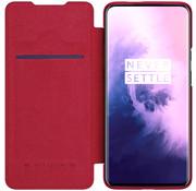 Nillkin OnePlus 7 Pro Slim Booktype Hülle QIN Rot
