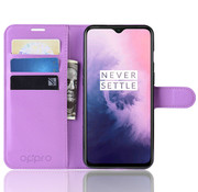 OPPRO OnePlus 7 Hülle Booktype Klapp Hülle Lila