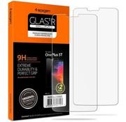 Spigen OnePlus 5T Displayschutzfolie 9H Gehärtetes Glas 2-pack
