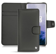 Noreve OnePlus 7 Pro Booktype Hülle Echtes Leder Schwarz