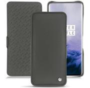 Noreve OnePlus 7 Pro Horizontaal Flip Hülle Echtes Leder Schwarz
