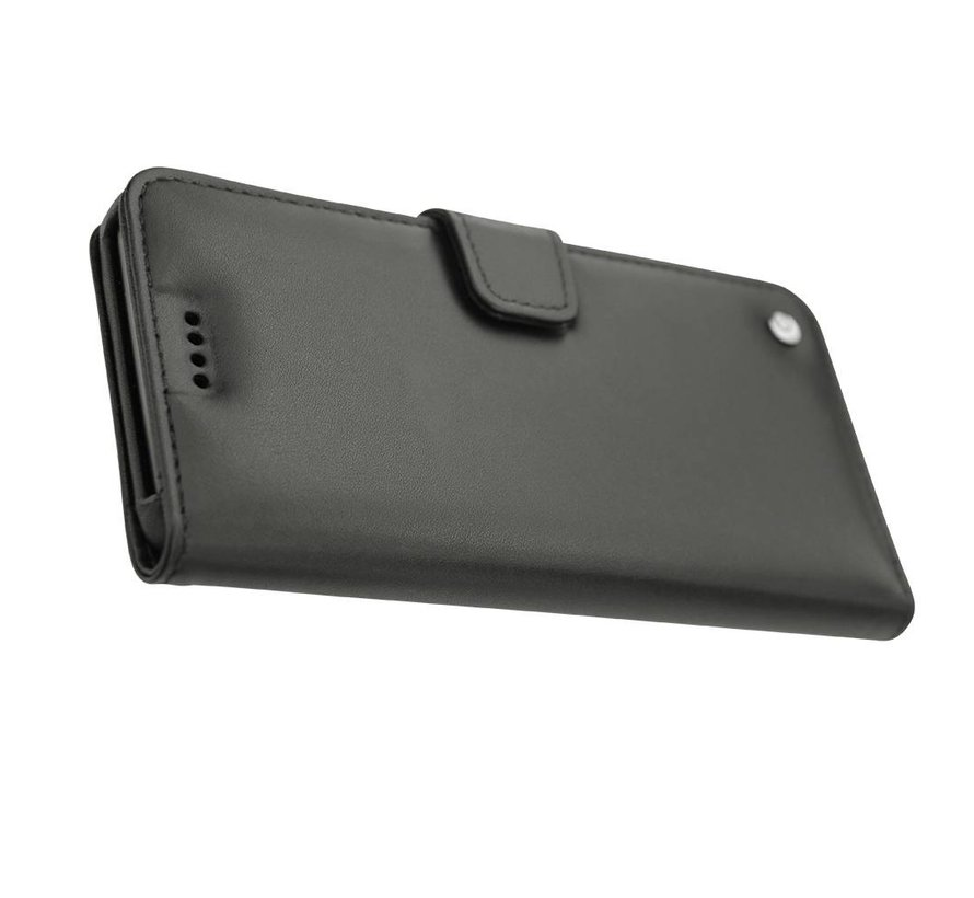OnePlus 3/3T Booktype Hülle Echtes Leder Schwarz