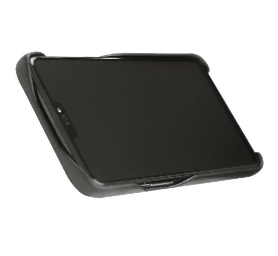 OnePlus 6T/7 Hülle Echtes Leder Schwarz